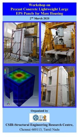One Day Workshop on Precast Concrete Lightweight Large EPS Panels for Mass Housing - 2nd March 2020