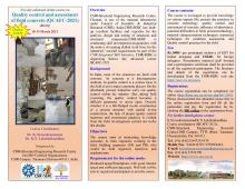 """online advanced course on """"Quality control and assessment of field concrete (QCAFC-2021)"""" 18 to 19  March 2021"""