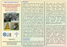 Online Advanced Course on Recent Advances in Concrete  Technology & Durability of Concrete Structures (RACT & DCS 2021) 25 – 27 August 2021
