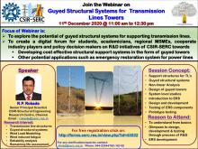 Webinar on Guyed Structural Systems for Transmission Lines Towers - 11 December 2020